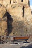 史密斯岩石观点长凳 库存照片