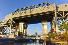 史密斯第九座街道地铁桥梁- Gowanus,布鲁克林 库存图片