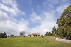 史密斯O& x27; Briens村庄, Tasmania& x27; s阿瑟港历史站点 库存照片