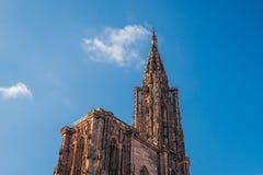 史特拉斯堡大教堂尖顶 免版税库存照片