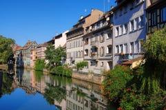史特拉斯堡小的法国在阿尔萨斯 免版税库存照片