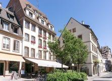 史特拉斯堡,法国- 8月23 :街道视图传统hous 免版税库存图片