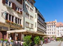 史特拉斯堡,法国- 8月23 :街道视图传统hous 免版税库存照片