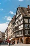 史特拉斯堡, FRANCE/EUROPE - 7月17日:Pedestrianised购物铈 免版税库存照片