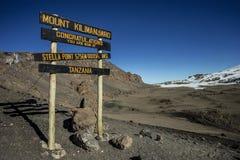 史特拉点(5756m),乞力马扎罗 免版税库存图片