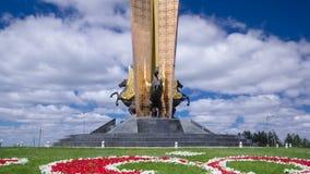 史特拉阿斯塔纳`星  在机场哈萨克斯坦timelapse hyperlapse附近的`阿斯塔纳, 阿斯塔纳卡扎克斯坦 影视素材