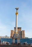 史特拉-独立纪念碑在基辅 免版税图库摄影