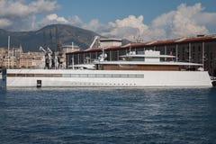 史蒂夫・乔布斯的豪华游艇 免版税库存图片