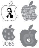 史蒂夫・乔布斯苹果计算机商标设计观念 库存图片