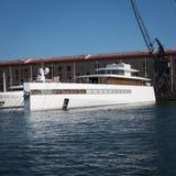史蒂夫Jobs的豪华游艇 免版税图库摄影