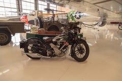 史蒂夫McQueen's绿色1931年豹摩托车 免版税库存照片