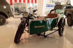 史蒂夫McQueen's绿色1931年豹摩托车 库存照片