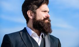 史诗胡子增长的指南 葡萄酒样式长的胡子 r r 投资  免版税图库摄影