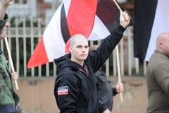右翼demonstraters 库存照片