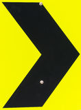 右转弯/曲线路标 免版税库存照片