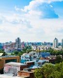叶卡捷琳堡鸟瞰图2013年6月26日的 免版税图库摄影