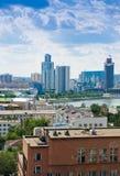 叶卡捷琳堡鸟瞰图2013年6月26日的 免版税库存照片