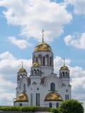 叶卡捷琳堡,俄罗斯- 06/07/2017 :血液的教会 免版税库存图片