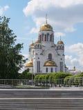 叶卡捷琳堡,俄罗斯- 06/07/2017 :血液的教会 库存图片