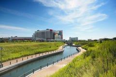 绿叶场面在大阪,日本 免版税库存图片