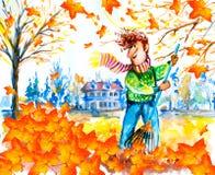 叶子倾斜 库存照片