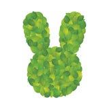 叶子兔子 免版税库存图片