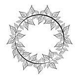 叶子冠  土气的设计 背景装饰图象风格化漩涡向量挥动 向量例证