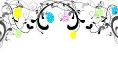 复活节彩蛋框架 图库摄影