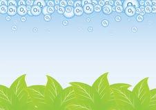 叶子和氧气 免版税库存照片