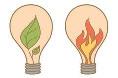 叶子和火抽象想法  免版税库存图片