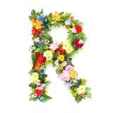叶子和花信件  免版税库存图片