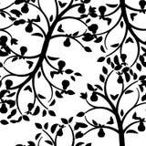 叶子无缝的墙纸 免版税库存照片