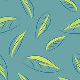 叶子无缝的样式例证 免版税图库摄影