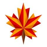 叶子槭树origami 图库摄影
