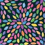 叶子瓣五颜六色的watarcolor无缝的样式 免版税库存图片
