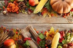 叶子用莓果和菜 免版税图库摄影
