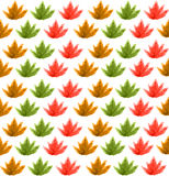 从叶子的无缝的样式,水彩 免版税库存图片