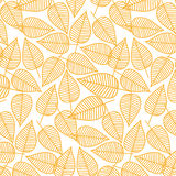 从叶子的秋天样式 也corel凹道例证向量 无缝的背景 库存照片