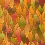 从叶子的秋天背景,无缝的结构 免版税库存照片