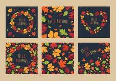 叶子的秋天 免版税库存照片