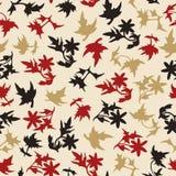 叶子简单的无缝的背景  免版税图库摄影
