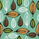 叶子背景的样式 免版税图库摄影