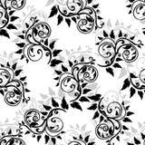 叶子背景 花卉无缝的纹理与 皇族释放例证