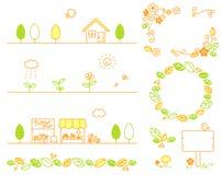 叶子,镇,花,商店,森林,生态 库存图片