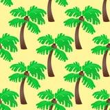 叶子绿化棕榈树无缝的样式传染媒介夏天叶子植物背景 库存图片