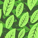 叶子-无缝的墙纸 库存例证