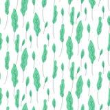 叶子绿色植物无缝的传染媒介样式 向量例证