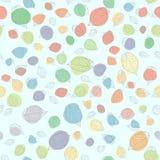 叶子仿造无缝 五颜六色的地点 秋天设计要素纹理 库存例证