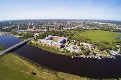 叶尔加瓦市,拉脱维亚 库存图片