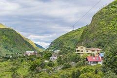 叶茂盛山的议院在Banos,厄瓜多尔 免版税库存图片